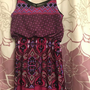 Express Dresses - Purple Aztec Express Dress